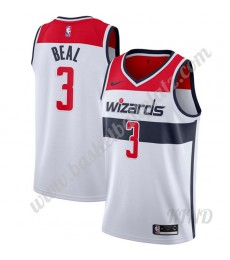 Washington Wizards Trikot Kinder 2019-20 Bradley Beal 3# Weiß Association Edition NBA Trikots Swingm..