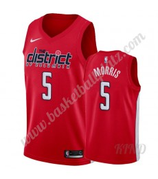 Washington Wizards Trikot Kinder 2019-20 Markieff Morris 5# Rot Earned Edition NBA Trikots Swingman..