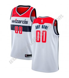 Washington Wizards Trikot Herren 2018-19 Association Edition Basketball Trikots NBA Swingman..