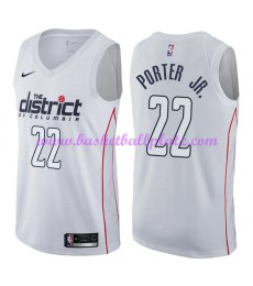 Washington Wizards Trikot Herren 2018-19 Otto Porter Jr. 22# City Edition Basketball Trikots NBA Swi..