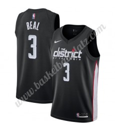 Washington Wizards Trikot Herren 2019-20 Bradley Beal 3# Schwarz City Edition Basketball Trikots NBA..