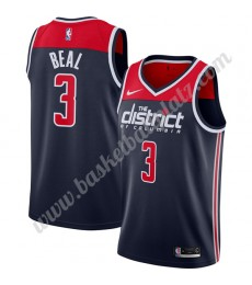 Washington Wizards Trikot Herren 2019-20 Bradley Beal 3# Marine Finished Statement Edition Basketbal..