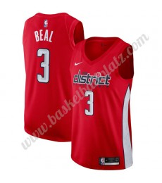 Washington Wizards Trikot Herren 2019-20 Bradley Beal 3# Rot Earned Edition Basketball Trikots NBA S..