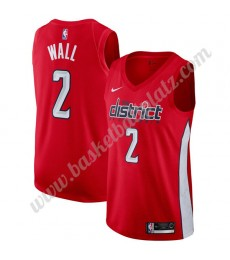 Washington Wizards Trikot Herren 2019-20 John Wall 2# Rot Earned Edition Basketball Trikots NBA Swingman