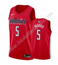 Washington Wizards Trikot Herren 2019-20 Markieff Morris 5# Rot Earned Edition Basketball Trikots NB..