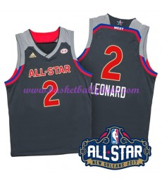 West NBA All Star Game Trikot Herren 2017 Kawhi Leonard 2# Basketball Trikots Swingman