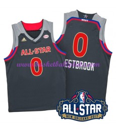 West NBA All Star Game Trikot Herren 2017 Russell Westbrook 0# Basketball Trikots Swingman