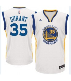 Golden State Warriors Trikot Herren 15-16 Kevin Durant 35# Home Basketball Trikot Swingman..
