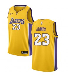 Los Angeles Lakers NBA Trikot Kinder 2018-19 LeBron James 23# Icon Edition Basketball Trikots Swingm..