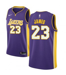 Los Angeles Lakers Trikot Herren 2018-19 LeBron James 23# Statement Edition Basketball Trikots NBA S..