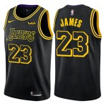 Los Angeles Lakers Trikot Herren 2018-19 LeBron James 23# City Edition Basketball Trikots NBA Swingman