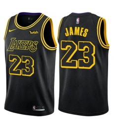 Los Angeles Lakers NBA Trikot Kinder 2018-19 LeBron James 23# City Edition Basketball Trikots Swingm..