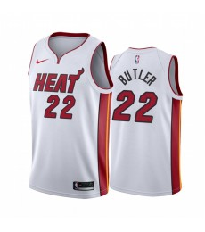 Miami Heat Trikot Kinder 2019-20 Jimmy Butler 22# Weiß Association Edition NBA Trikots Swingman..