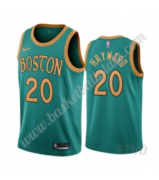 Boston Celtics Trikot Kinder 2019-20 Gordon Hayward 20# Grün City Edition NBA Trikots Swingman..