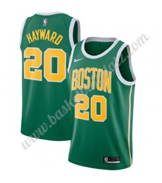Boston Celtics Trikot Herren 2019-20 Gordon Hayward 20# Grün Earned Edition Basketball Trikots NBA S..