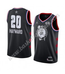 Boston Celtics Trikot Herren 2019 Gordon Hayward 20# Schwarz All Star Game Basketball Trikots Swingm..