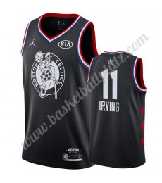 Boston Celtics Trikot Herren 2019 Kyrie Irving 11# Schwarz All Star Game Basketball Trikots Swingman..