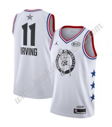 Boston Celtics Trikot Herren 2019 Kyrie Irving 11# Weiß All-Star Game Finished Basketball Trikots Sw..