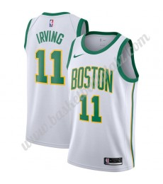 Boston Celtics Trikot Herren 2019-20 Kyrie Irving 11# Weiß City Edition Basketball Trikots NBA Swing..