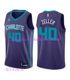 Charlotte Hornets NBA Trikot Kinder 2018-19 Cody Zeller 40# Statement Edition Basketball Trikots Swi..