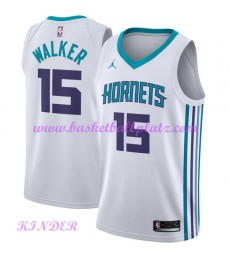 Charlotte Hornets NBA Trikot Kinder 2018-19 Kemba Walker 15# Association Edition Basketball Trikots ..