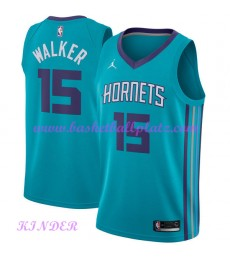 Charlotte Hornets NBA Trikot Kinder 2018-19 Kemba Walker 15# Icon Edition Basketball Trikots Swingma..