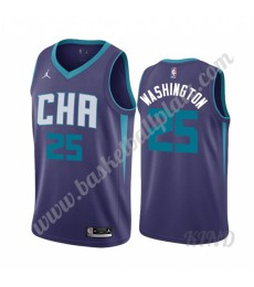 Charlotte Hornets Trikot Kinder 2019-20 P. J. Washington 25# Lila Statement Edition NBA Trikots Swin..