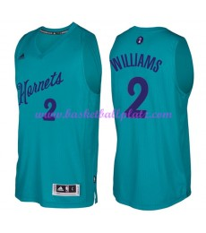 Günstige NBA Weihnachten Basketball Trikots Charlotte Hornets Herren 2016 Marvin Williams 2# Swingma..
