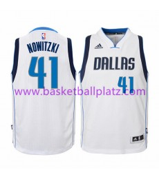 Dallas Mavericks Trikot Kinder 15-16 Dirk Nowitzki 41# Home Basketball Trikot Swingman..