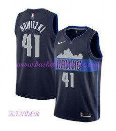 Dallas Mavericks NBA Trikot Kinder 2018-19 Dirk Nowitzki 41# Statement Edition Basketball Trikots Sw..