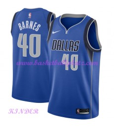 Dallas Mavericks NBA Trikot Kinder 2018-19 Harrison Barnes 40# Icon Edition Basketball Trikots Swing..