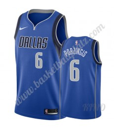 Dallas Mavericks Trikot Kinder 2019-20 Kristaps Porzingis 6# Blau Icon Edition NBA Trikots Swingman..