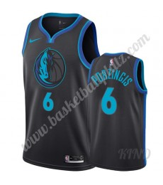 Dallas Mavericks Trikot Kinder 2019-20 Kristaps Porzingis 6# City Edition NBA Trikots Swingman..