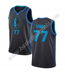 Dallas Mavericks Trikot Herren 2019-20 Luka Doncic 77# City Edition Basketball Trikots NBA Swingman..