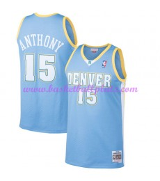 Denver Nuggets Herren 2003-04 Carmelo Anthony 15# Light Blau Hardwood Classics Basketball Trikots NB..