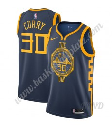 Golden State Warriors Trikot Kinder 2019-20 Stephen Curry 30# Marine City Edition NBA Trikots Swingm..