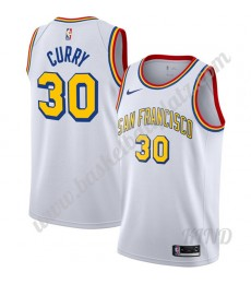 Golden State Warriors Trikot Kinder Stephen Curry 30# Weiß Finished Hardwood Classics NBA Trikots Sw..