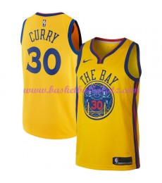 Golden State Warriors Trikot Herren 2018-19 Stephen Curry 30# City Edition Basketball Trikots NBA Sw..