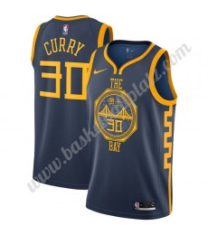 Golden State Warriors Trikot Herren 2019-20 Stephen Curry 30# Marine City Edition Basketball Trikots..