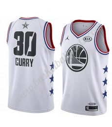 Golden State Warriors Trikot Herren 2019 Stephen Curry 30# Weiß All Star Game Basketball Trikots Swi..