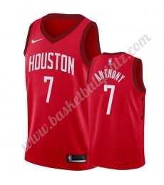 Houston Rockets Trikot Herren 2019-20 Carmelo Anthony 7# Rot Earned Edition Basketball Trikots NBA S..