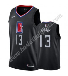 Los Angeles Clippers Trikot Herren 2019-20 Paul George 13# Schwarz Statement Edition Basketball Trik..