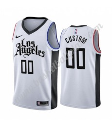 Los Angeles Clippers Trikot Herren 2019-20 Weiß City Edition Basketball Trikots NBA Swingman..