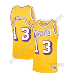 Los Angeles Lakers Trikot Kinder 1971-72 Wilt Chamberlain 13# Gold Hardwood Classics NBA Trikots Swi..