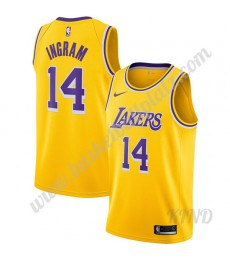 Los Angeles Lakers Trikot Kinder 2019-20 Brandon Ingram 14# Gold Icon Edition NBA Trikots Swingman..