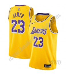 Los Angeles Lakers Trikot Kinder 2019-20 LeBron James 23# Gold Icon Edition NBA Trikots Swingman..