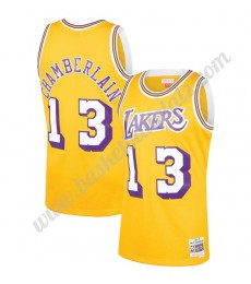 Los Angeles Lakers Trikot Herren 1971-72 Wilt Chamberlain 13# Gold Hardwood Classics Basketball Trik..