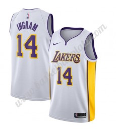 Los Angeles Lakers Trikot Herren 2019-20 Brandon Ingram 14# Weiß Association Edition Basketball Trik..