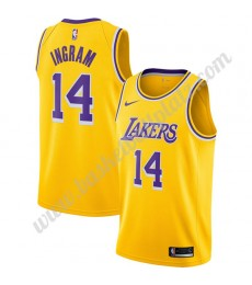 Los Angeles Lakers Trikot Herren 2019-20 Brandon Ingram 14# Gold Icon Edition Basketball Trikots NBA..