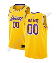 Los Angeles Lakers Trikot Herren 2019-20 Gold Icon Edition Basketball Trikots NBA Swingman..
